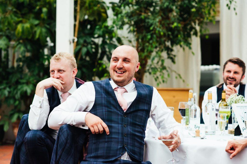 Fun wedding guest photography