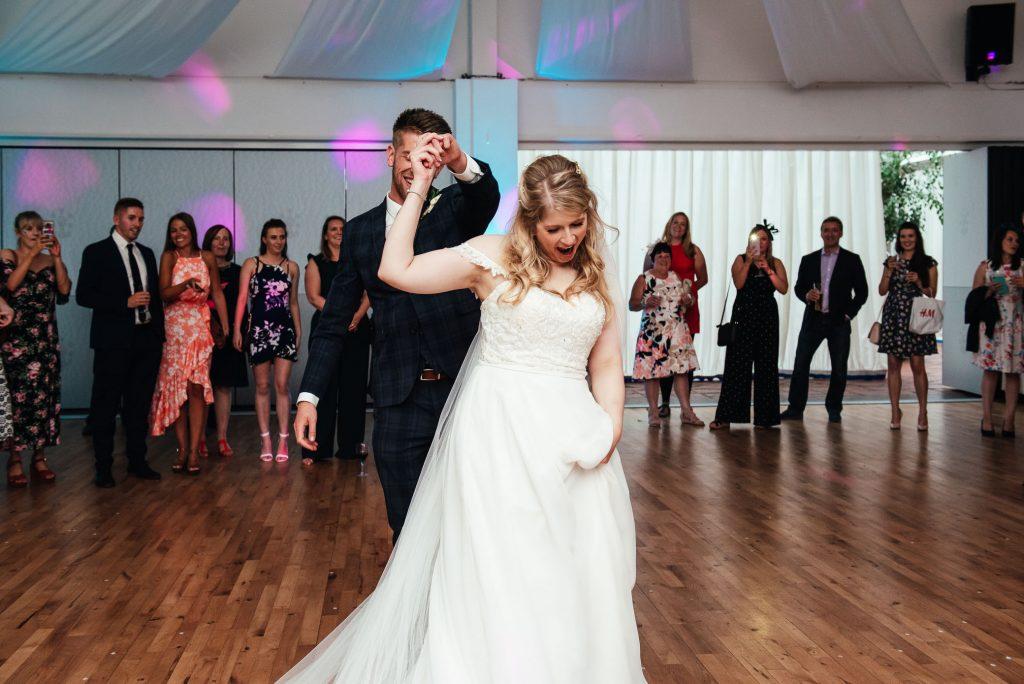 Fun and energetic wedding dance floor photography