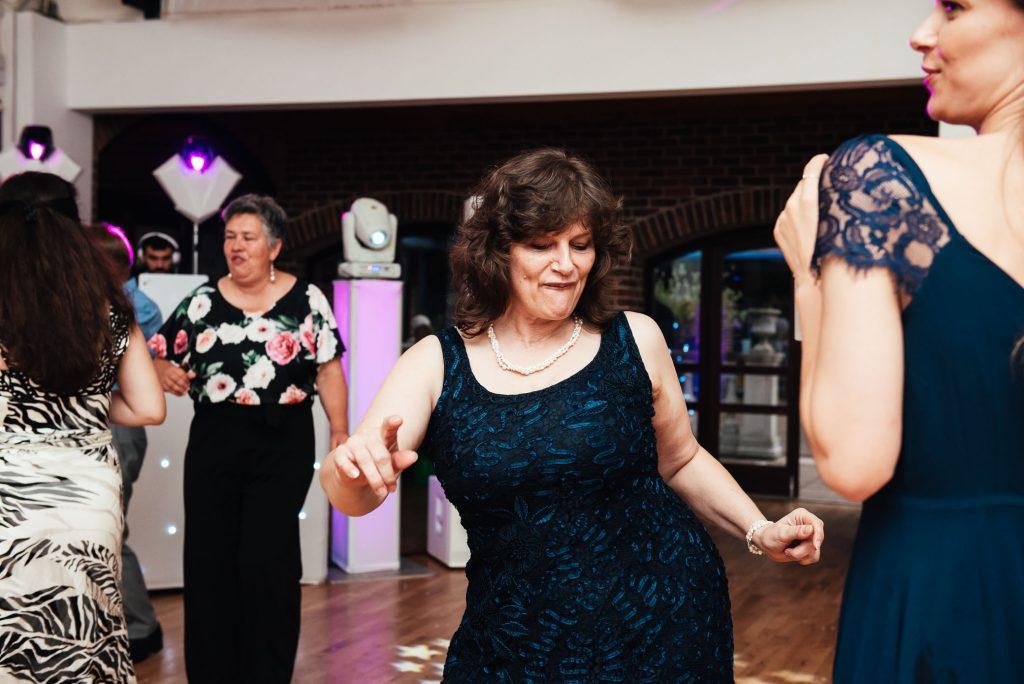 Fun dance floor wedding photography