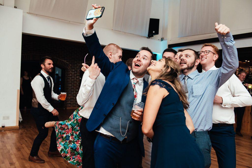 Fun wedding selfie photography