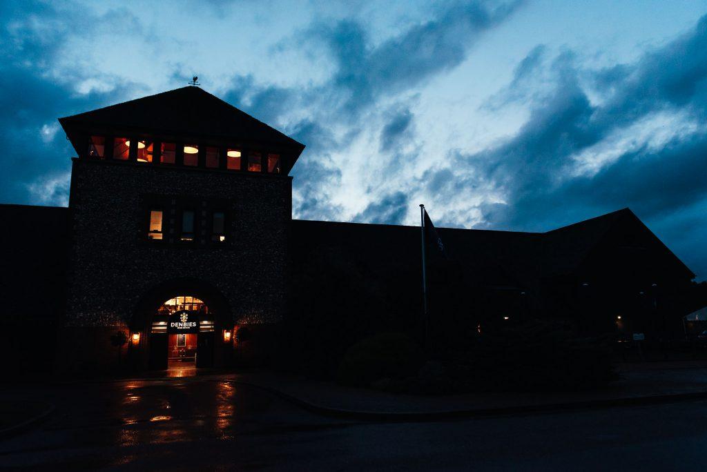 Nightscape of Denbies Wine Estate at night