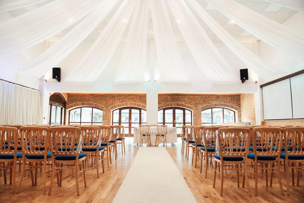 Wedding ceremony for Denbies Wine Estate Wedding