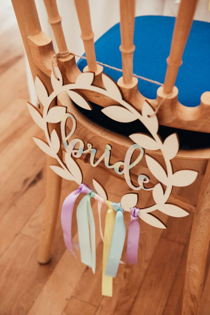 Bespoke wedding bridal sign