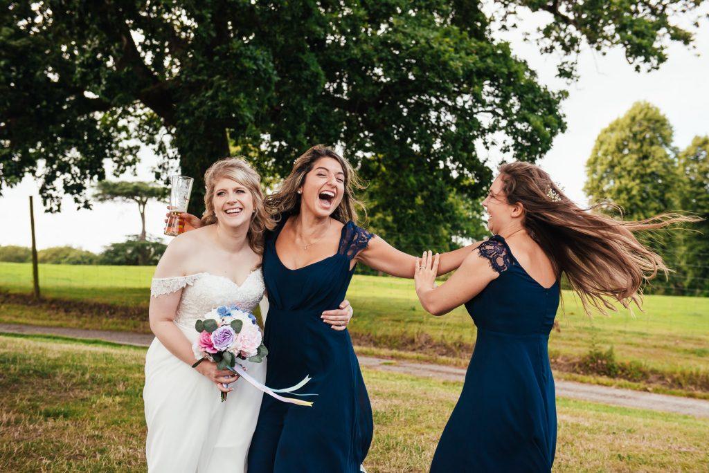 Fun wedding photography Surrey