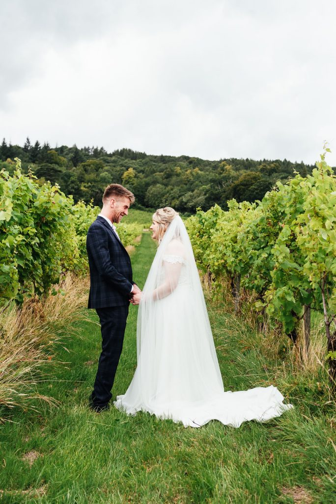 Relaxed wedding portrait photography Surrey