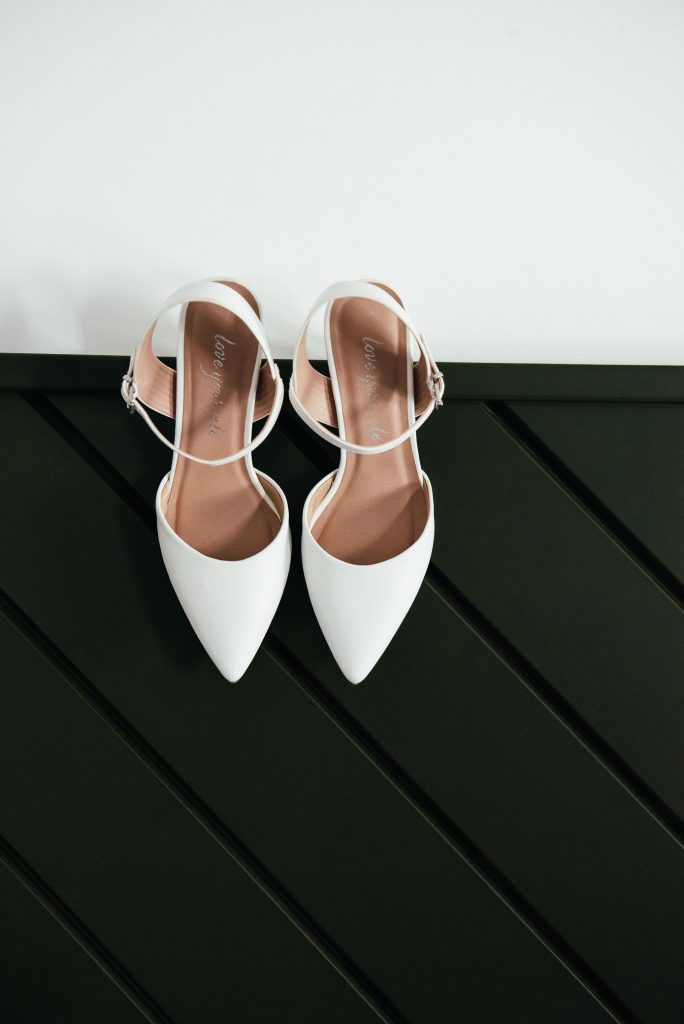 New Look white wedding shoes for bridal preparation