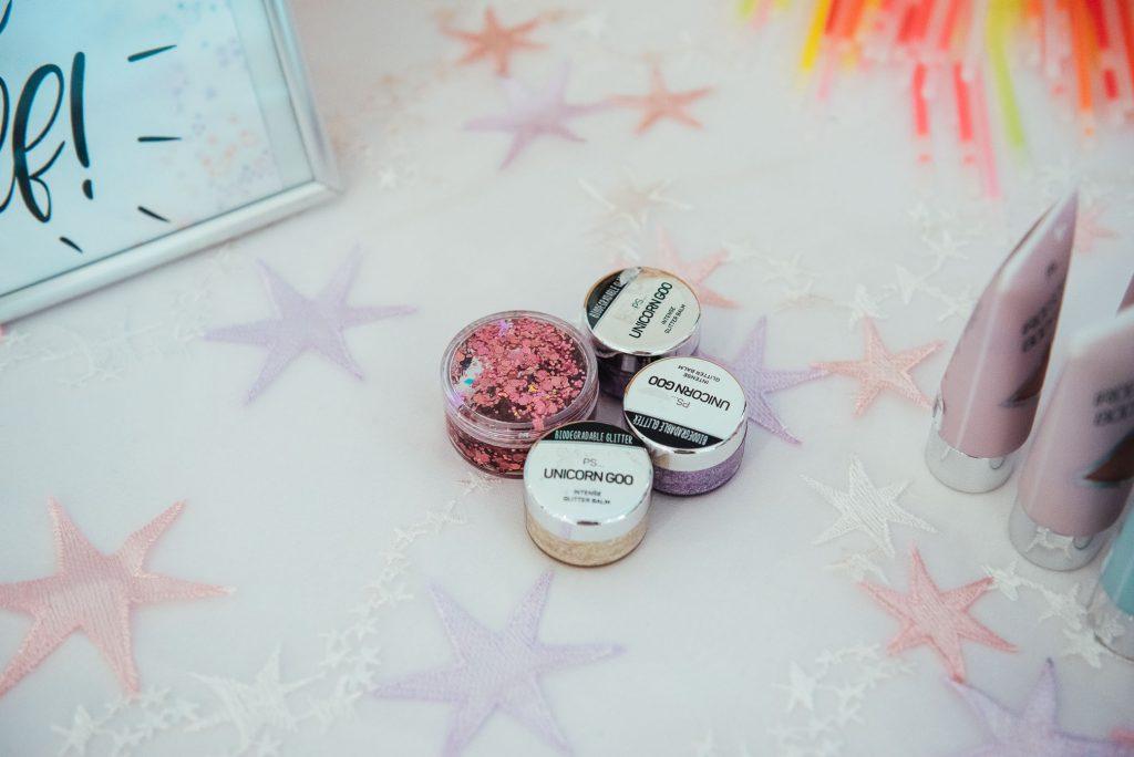 Handmade glitter station at Denbies Wine estate wedding