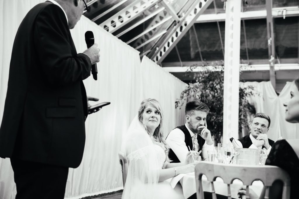 Father of the bride gives wedding speech