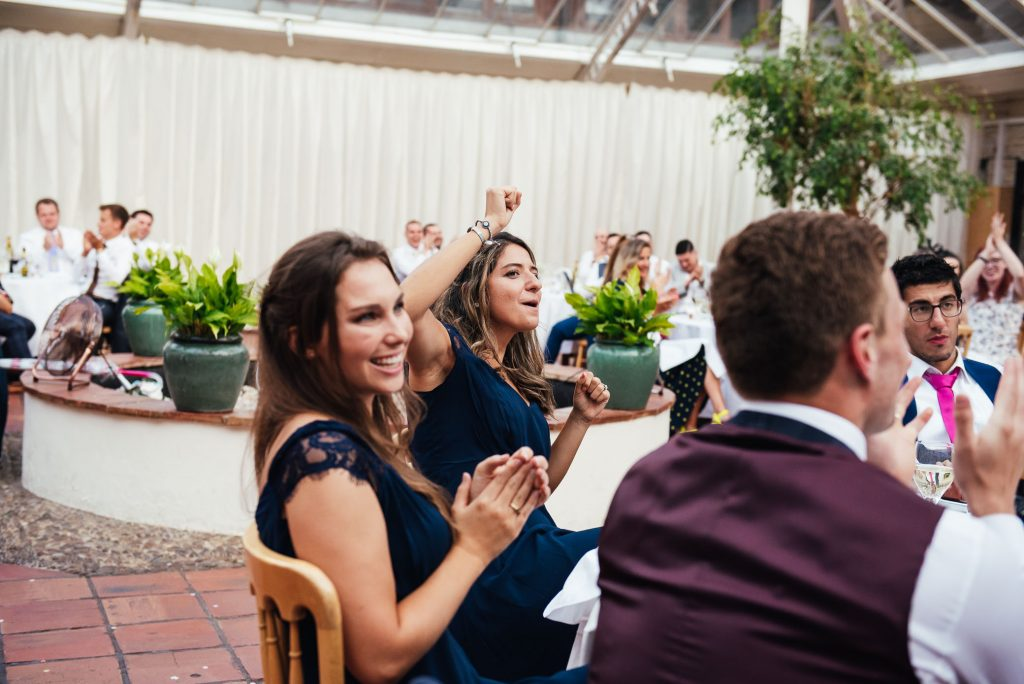 Fun and candid wedding guest photography