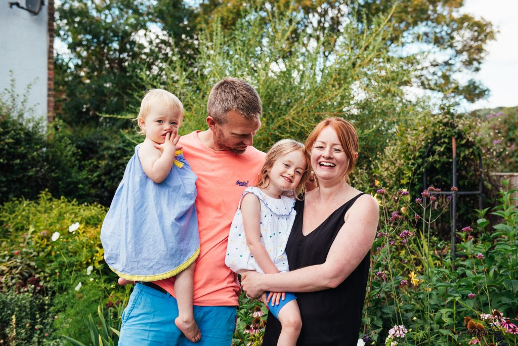 Natural family portrait photography, Surrey