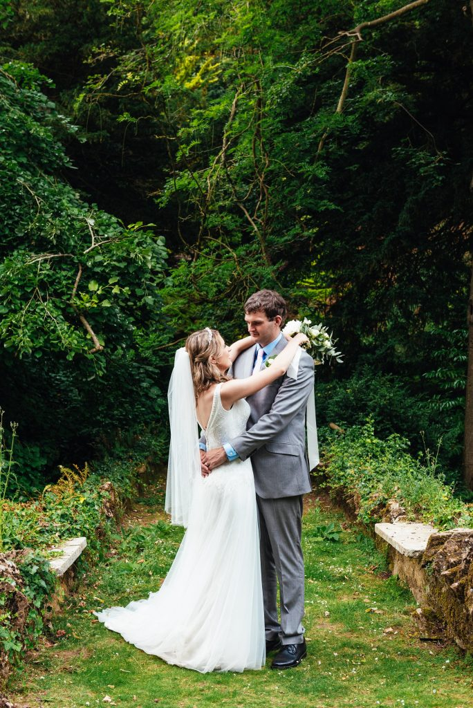 Natural outdoor wedding portrait