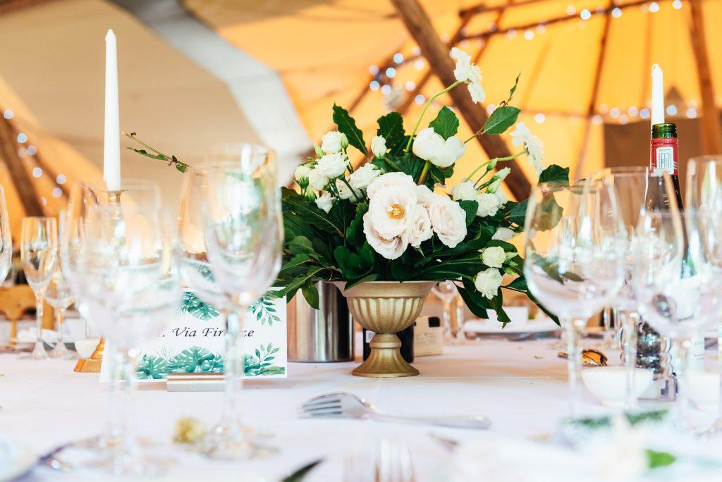Peony Wedding table floral arrangement