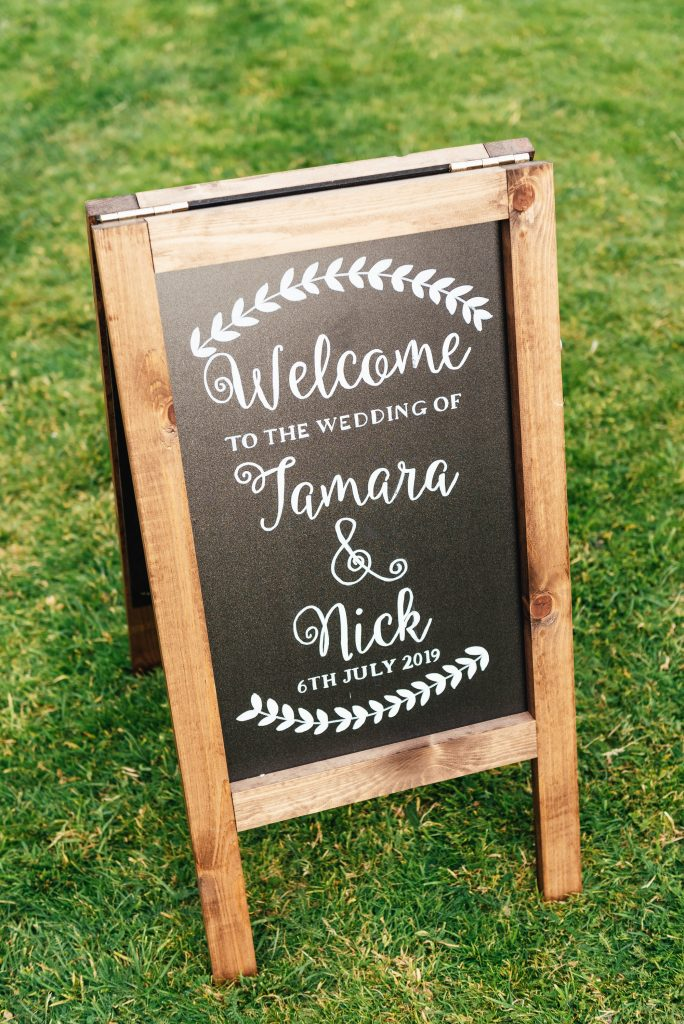Bespoke Wedding Blackboard Sign