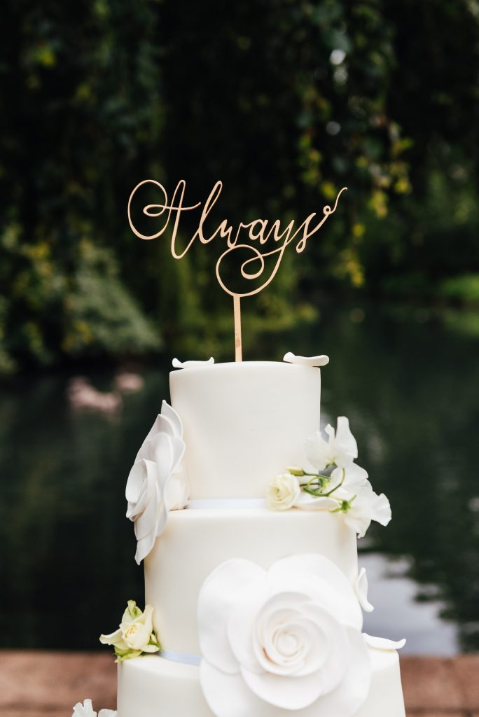 Always Cake Topper, Busbridge Lakes Wedding