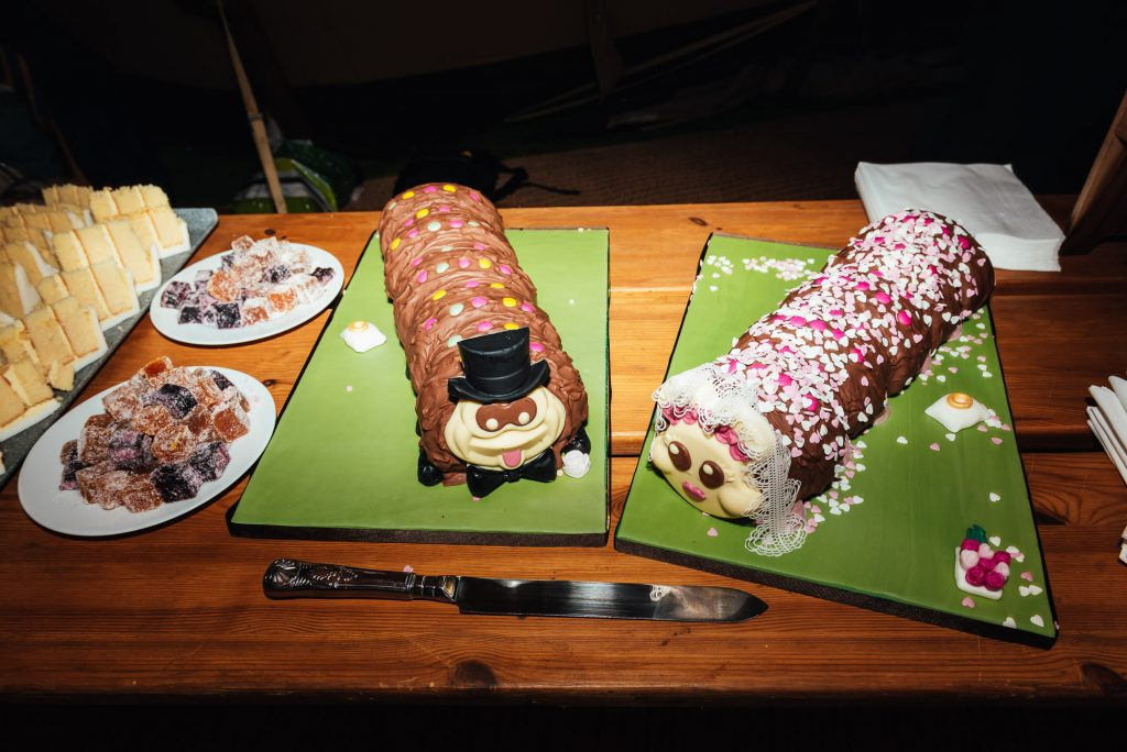 Colin the Caterpillar wedding cake