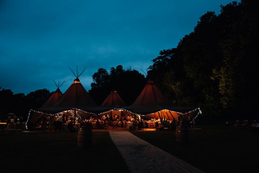 Busbridge Lakes Wedding during evening light