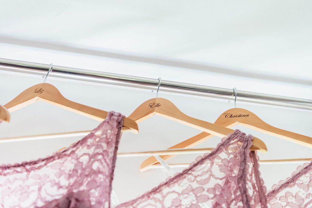 Matching Pink Bridesmaid Dresses - Surrey Wedding Photography