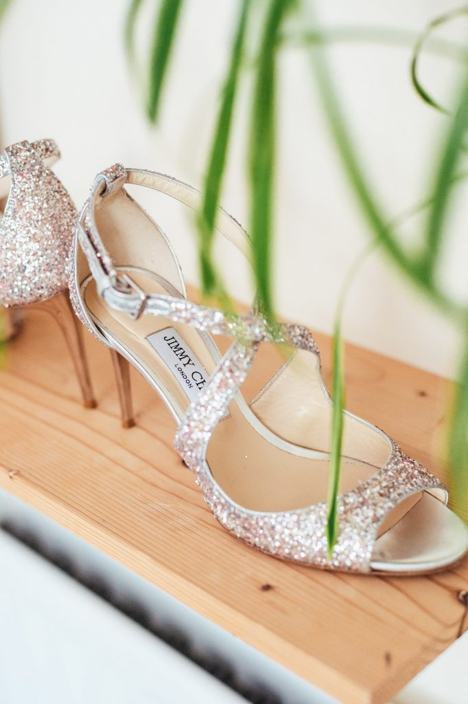 Jimmy Choo wedding shoes - Creative Surrey Wedding Photography