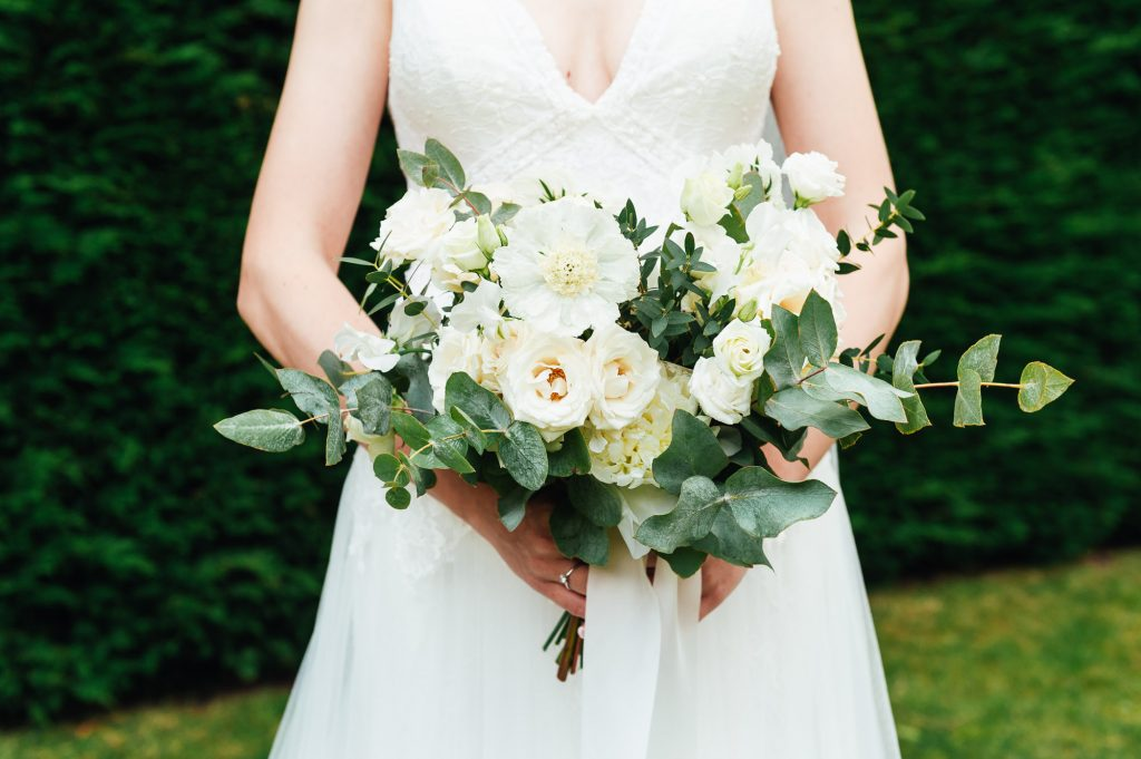 White and Green Floral Bridal Bouquet