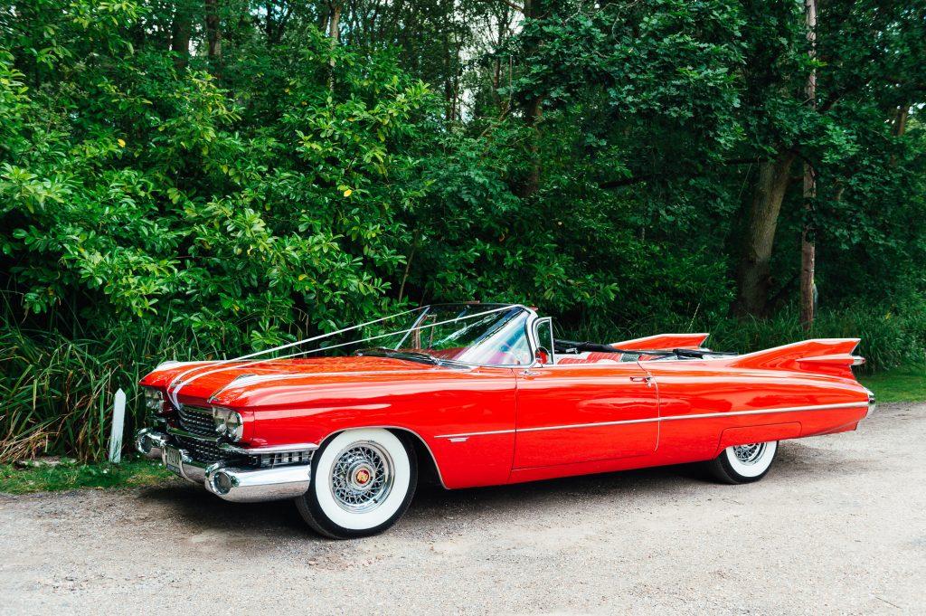 Red Cadillac Wedding Car
