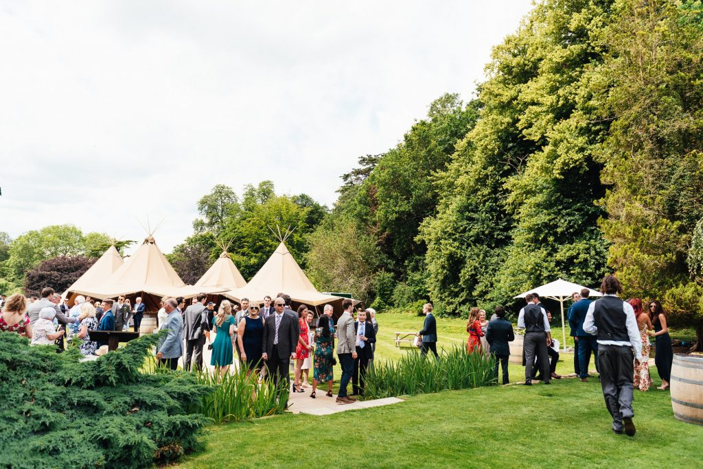 Busbridge Lakes Wedding with Tipi Reception Venue