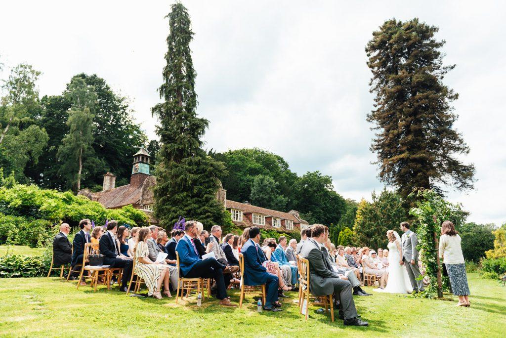 Outdoor Busbridge Lakes Wedding Ceremony