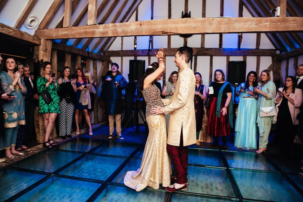 Wedding first dance photography, South Farm wedding