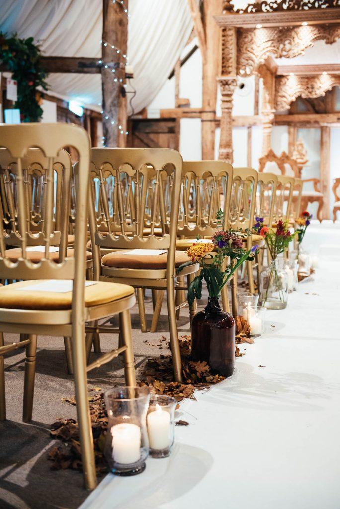 Wedding ceremony room decorations