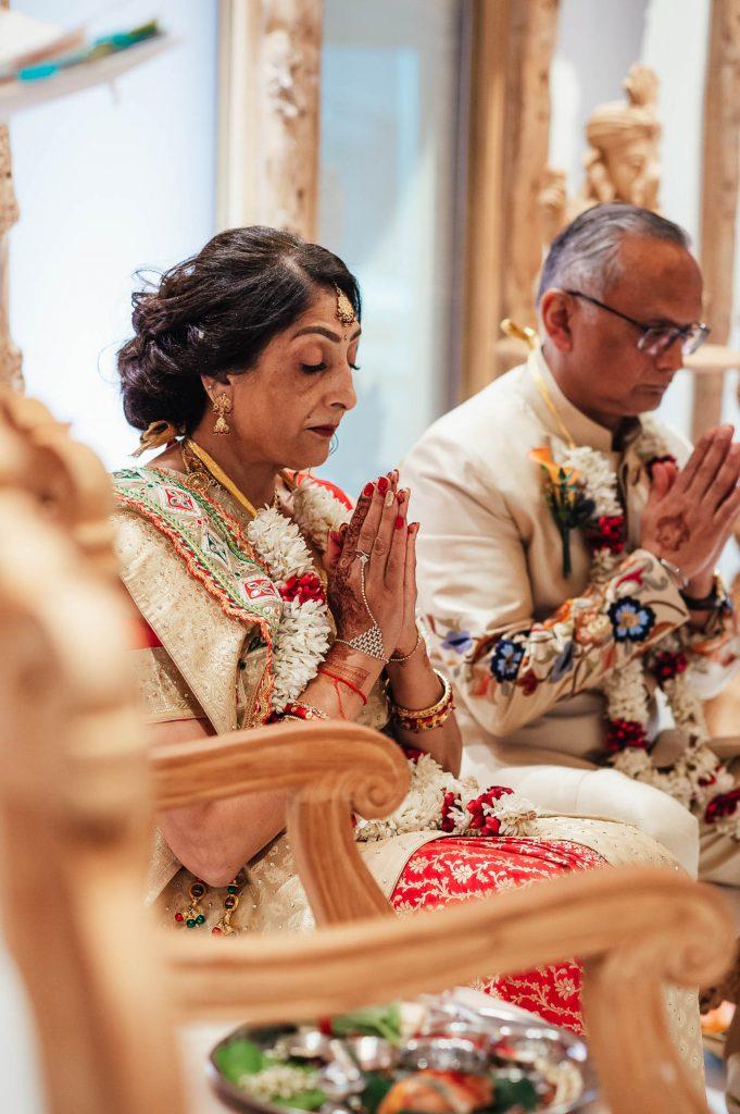 Rituals during Hindu wedding ceremony