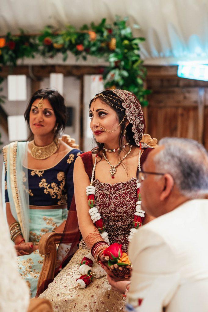 Beautiful bride during wedding ceremony