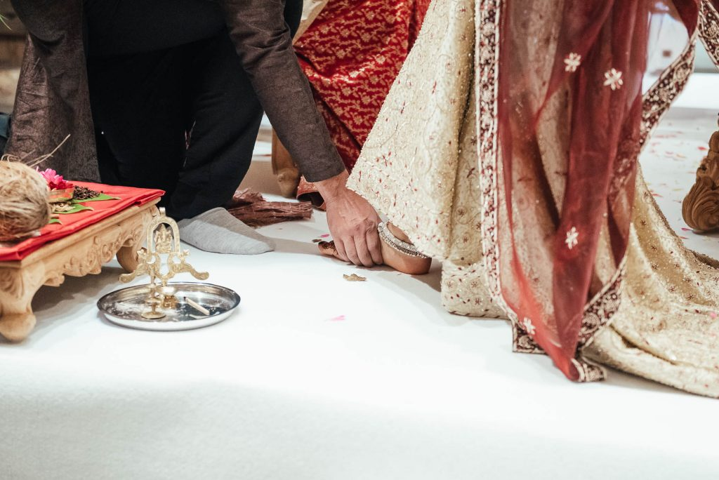 Hindu wedding day ceremony ritual