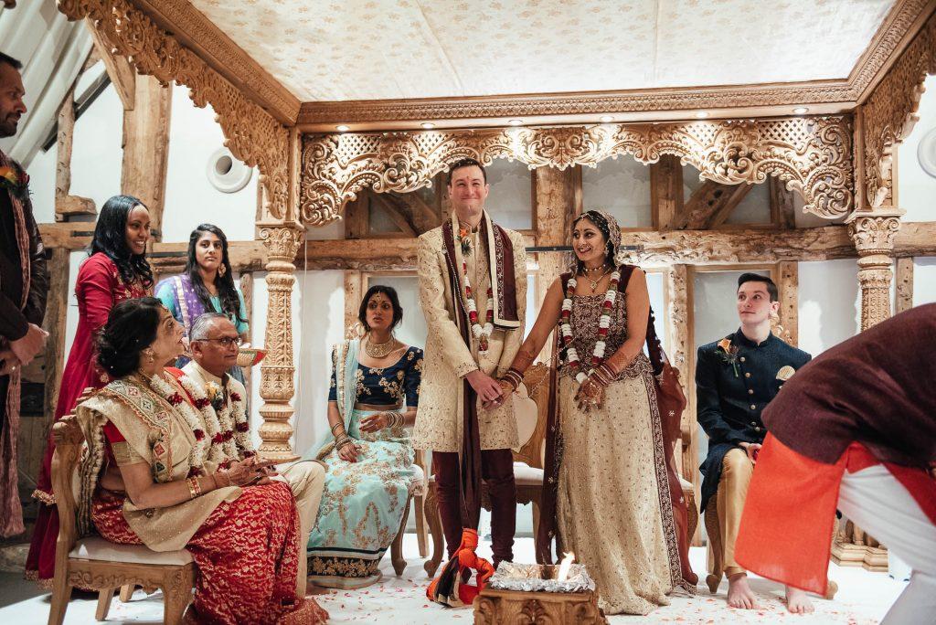 Candid Hindu wedding day ceremony ritual