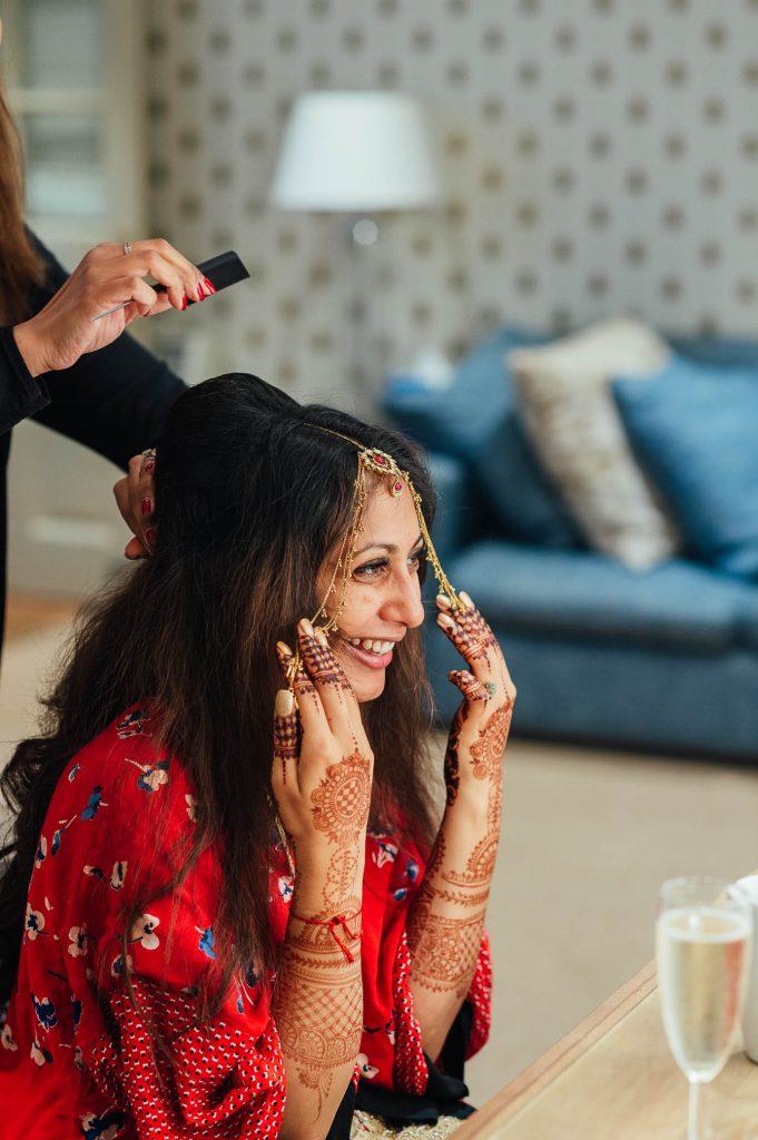 Natural Bridal preparation photography