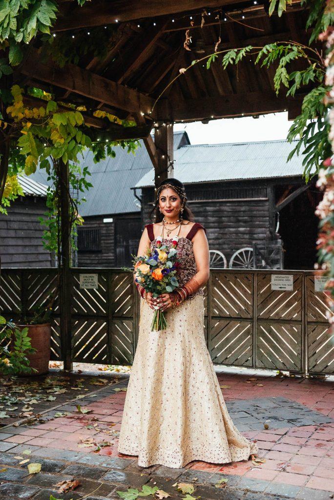 Indian bridal portrait, South Farm Wedding