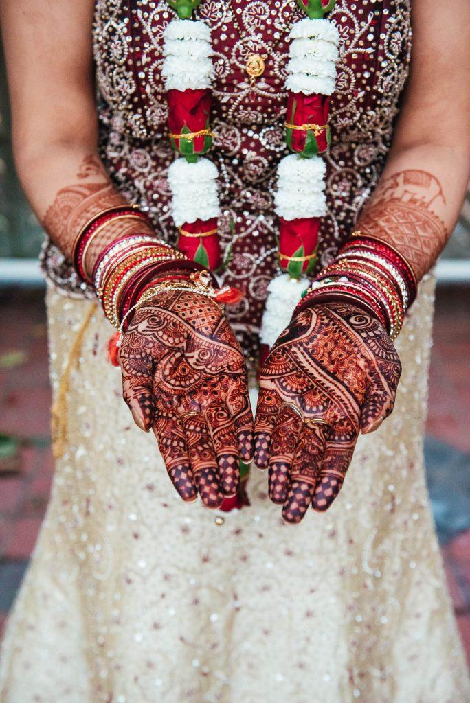 Wedding day henna art detailing
