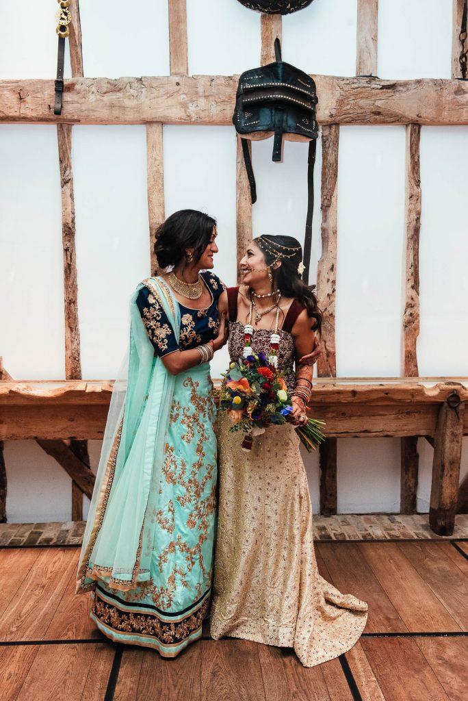 Bride and maid of honour portrait