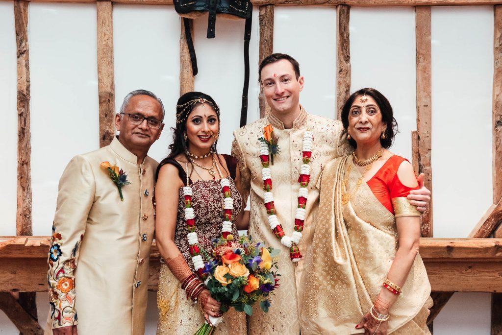 Family portrait, South Farm wedding
