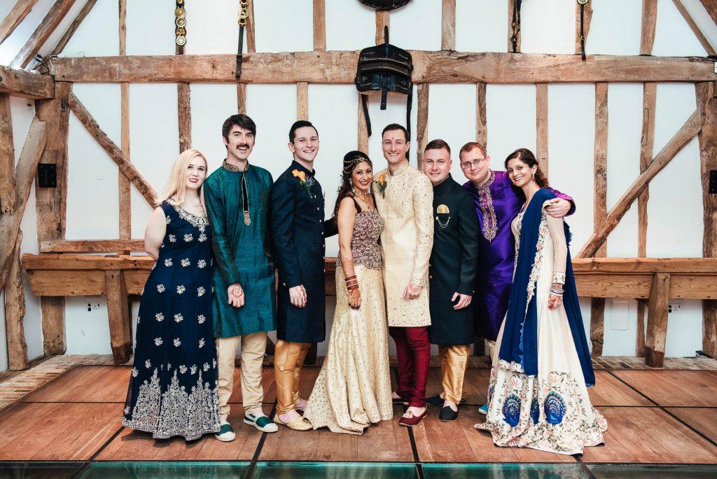 Wedding party portrait, South Farm wedding