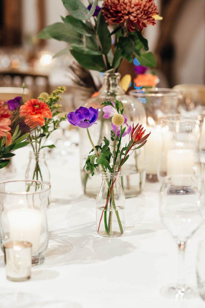 Delicate wedding flower arrangement, Autumnal wedding decor
