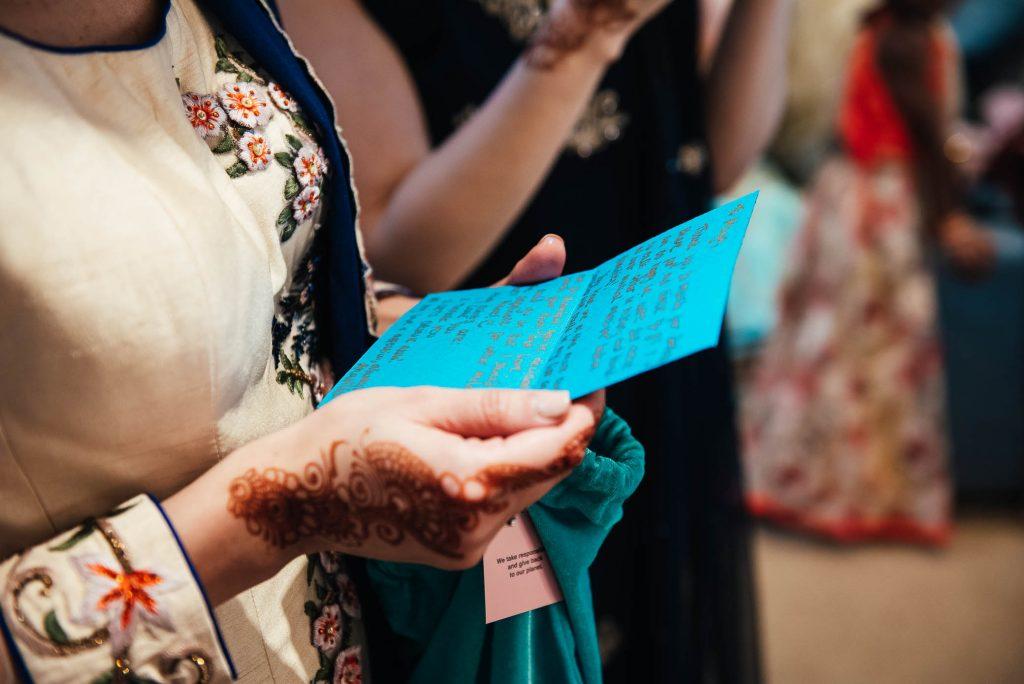 Wedding present note