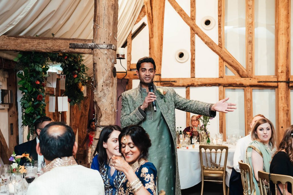 Wedding speeches announced