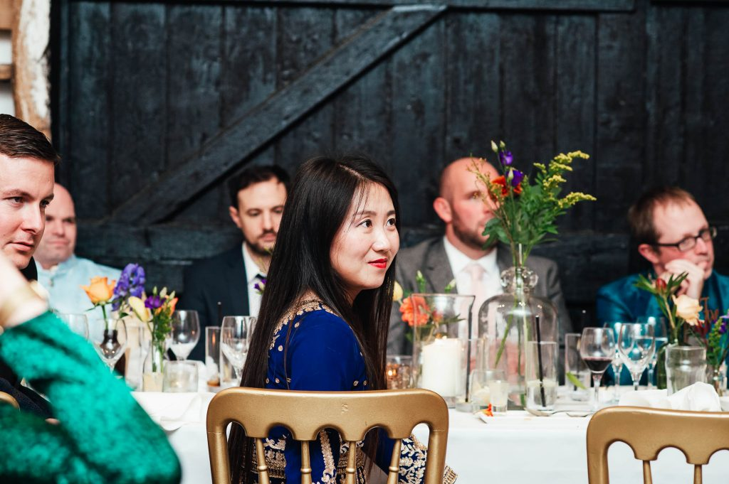 Candid and relaxed guest photography, South Farm wedding