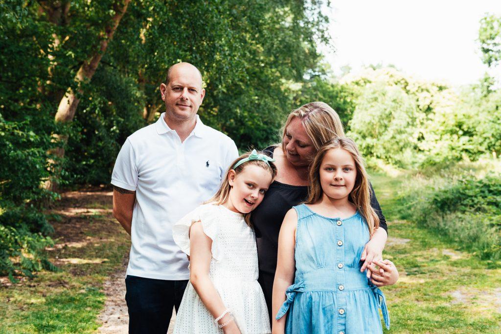 Candid Outdoor family portrait Surrey