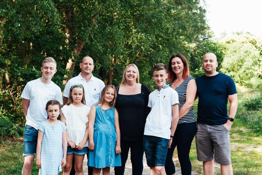 Extended family portrait, Surrey