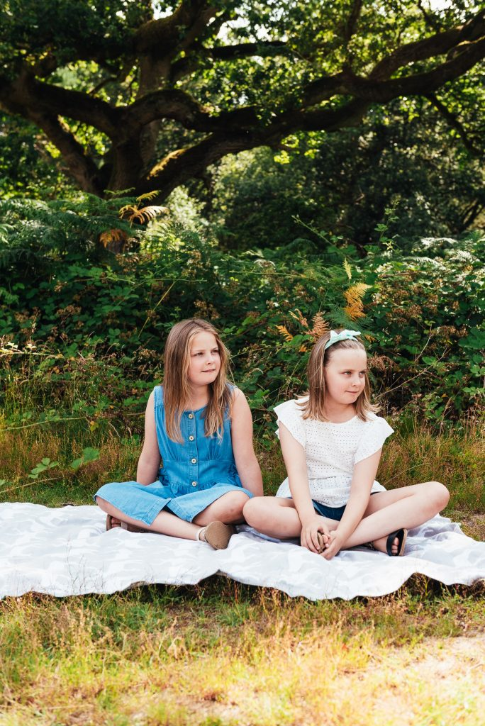 Sister portrait at Chantry wood family shoot