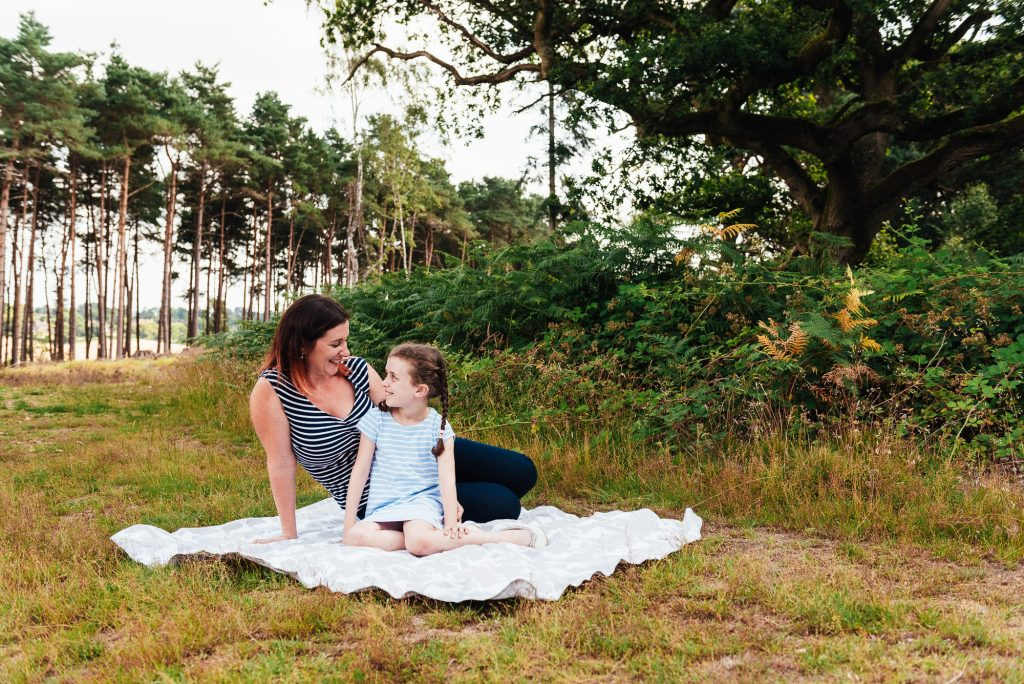 Mother and daughter portrait at Chantry wood family shoot