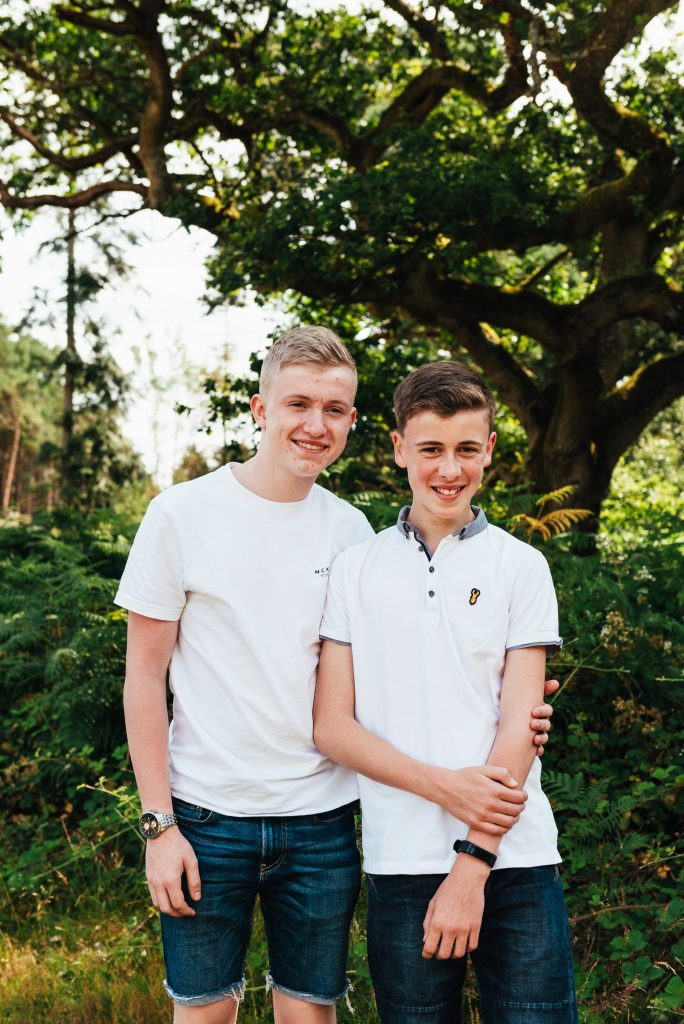 Natural family photography - Brothers family portrait