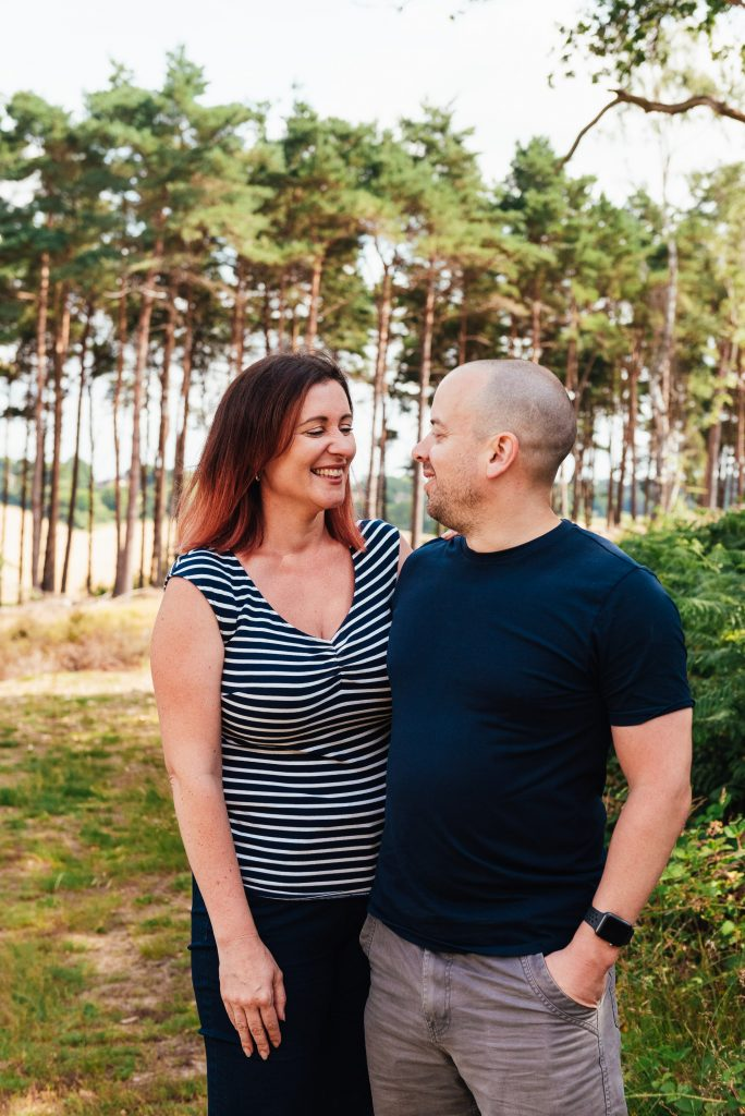 Natural and relaxed couples family portrait
