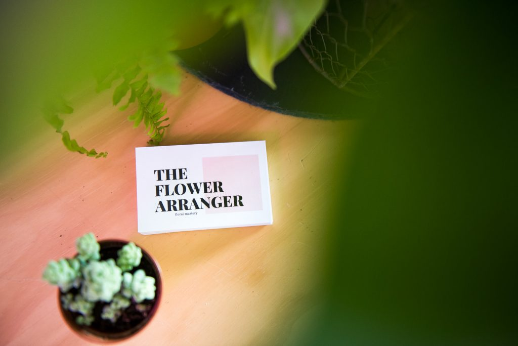 The Flower Arranger, Wedding business brand photography
