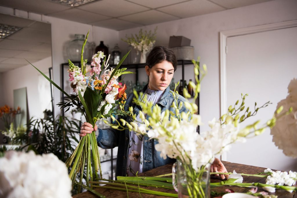Day in the life of a wedding florist, brand photography